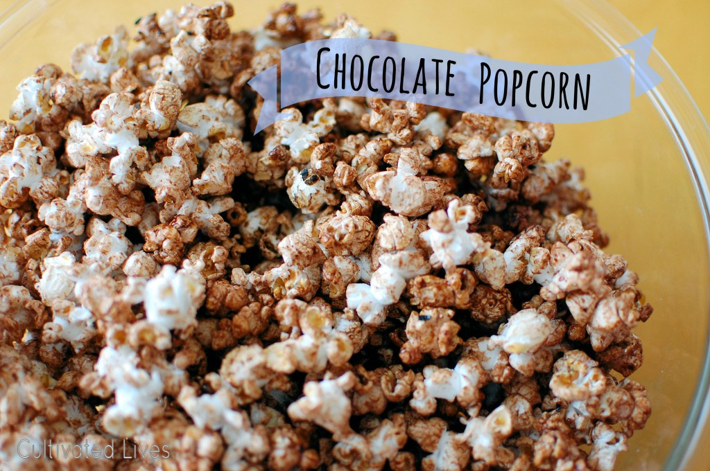 Simple, tasty stove-top chocolate popcorn!