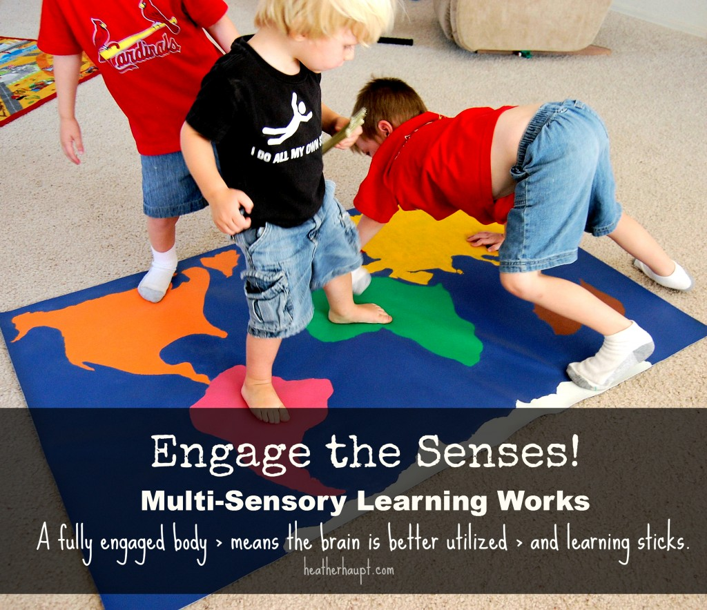 An important reminder to engage the senses!  Harnessing the power of multi-sensory learning helps information stick!