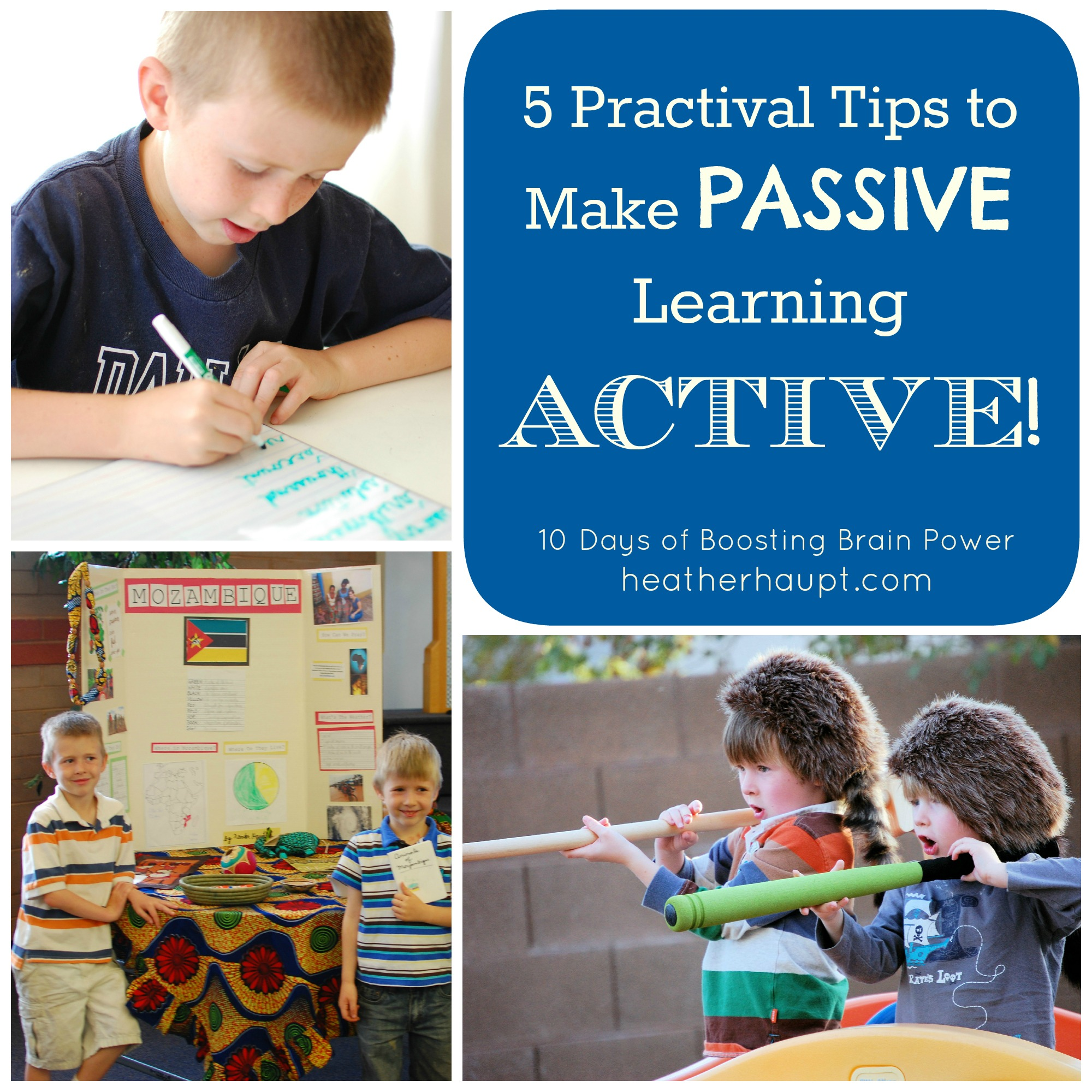 We need a varied approach! 5 great ideas to help convert passive learning to more active, engaged learning!