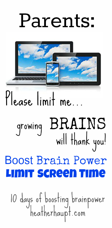 A rationale for why we should limit screentime for our children! {Day 6 of Boosting Brain Power series}