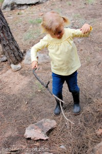 Sticks + Imagination = Ample Outdoor Adventures