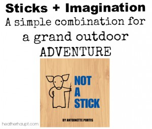 This little book inspires countless outdoor adventures.  All you need is a stick!