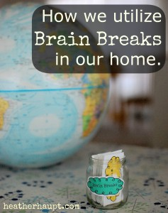 How we utilize brain breaks in our home