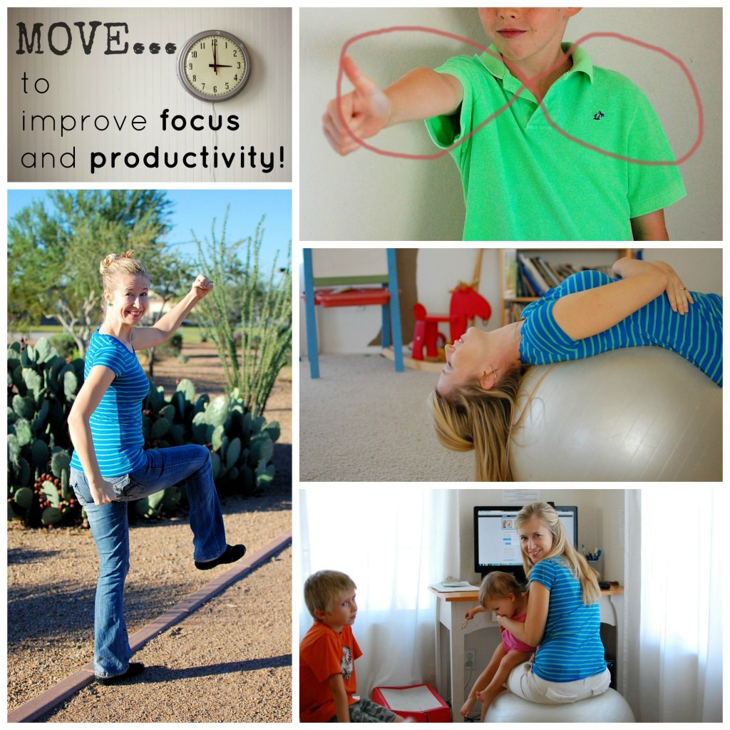 Brain Breaks work - for kids and adults too!  Move to improve focus and productivity!