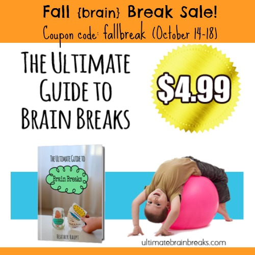 """The perfect guide to help with an easily distracted child.  MOVE > FOCUS > LEARN!  Use the coupon code, """"FallBreak"""" this week only to get it for $4.99"""