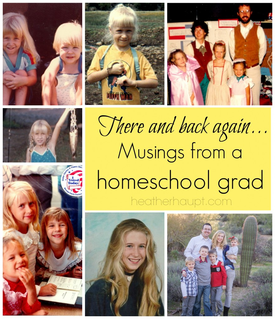 Looking back in thankfulness and forward with anticipation to the homeschool adventure!