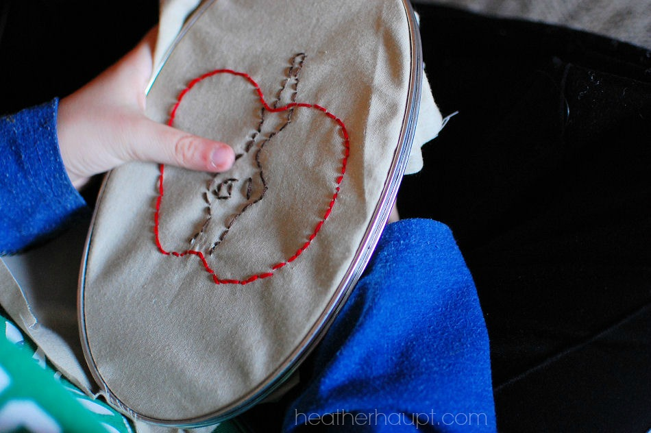 kids and embroidery
