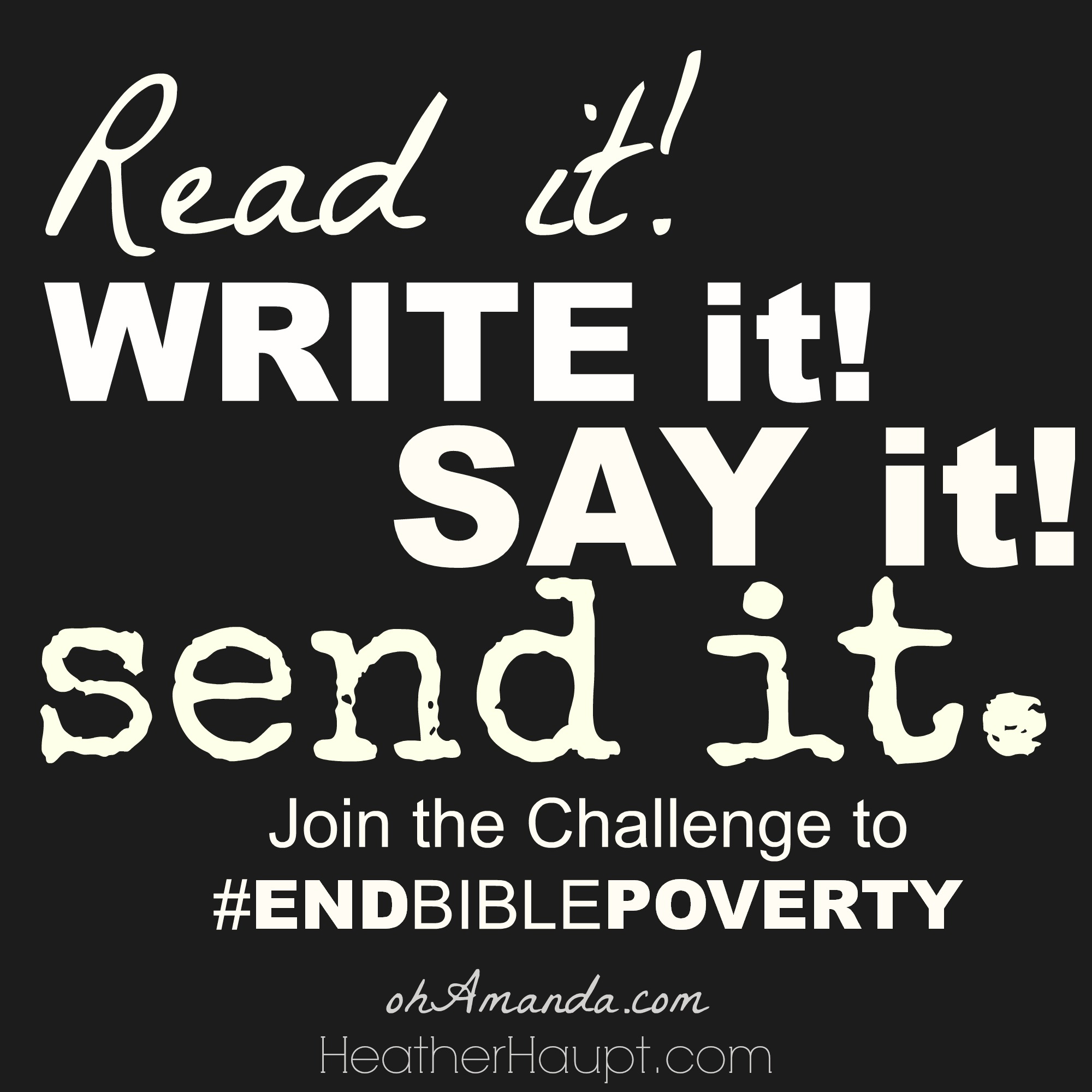 Join the challenge: Memorize and Recite Verses to raise money for BIBLE Translation. #EndBiblePoverty #MonthlyMission