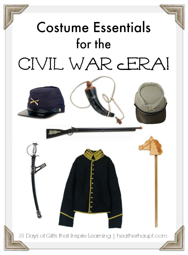 Make history come alive through dramatization with a few key costumes pieces from the Civil War era.