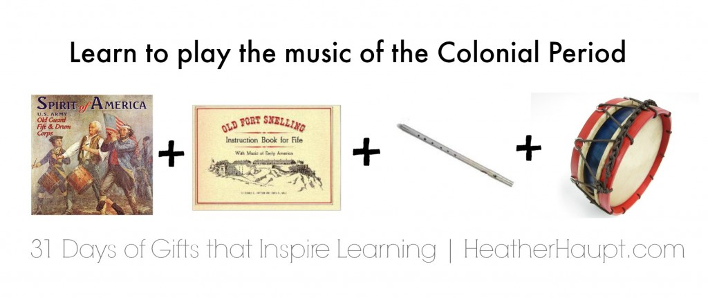 Learn lively tunes from the Colonial period with fife, drum instruction book and music cd! The perfect gift for your music lover!