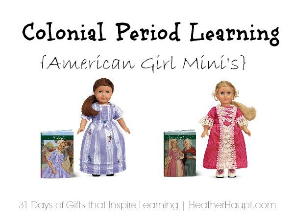 American Girl Doll Mini's - Felicity and Elizabeth