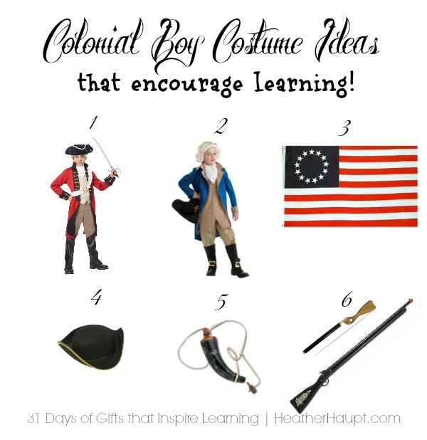 Gift ideas to spark imaginative play and learning about the Revolutionary War!