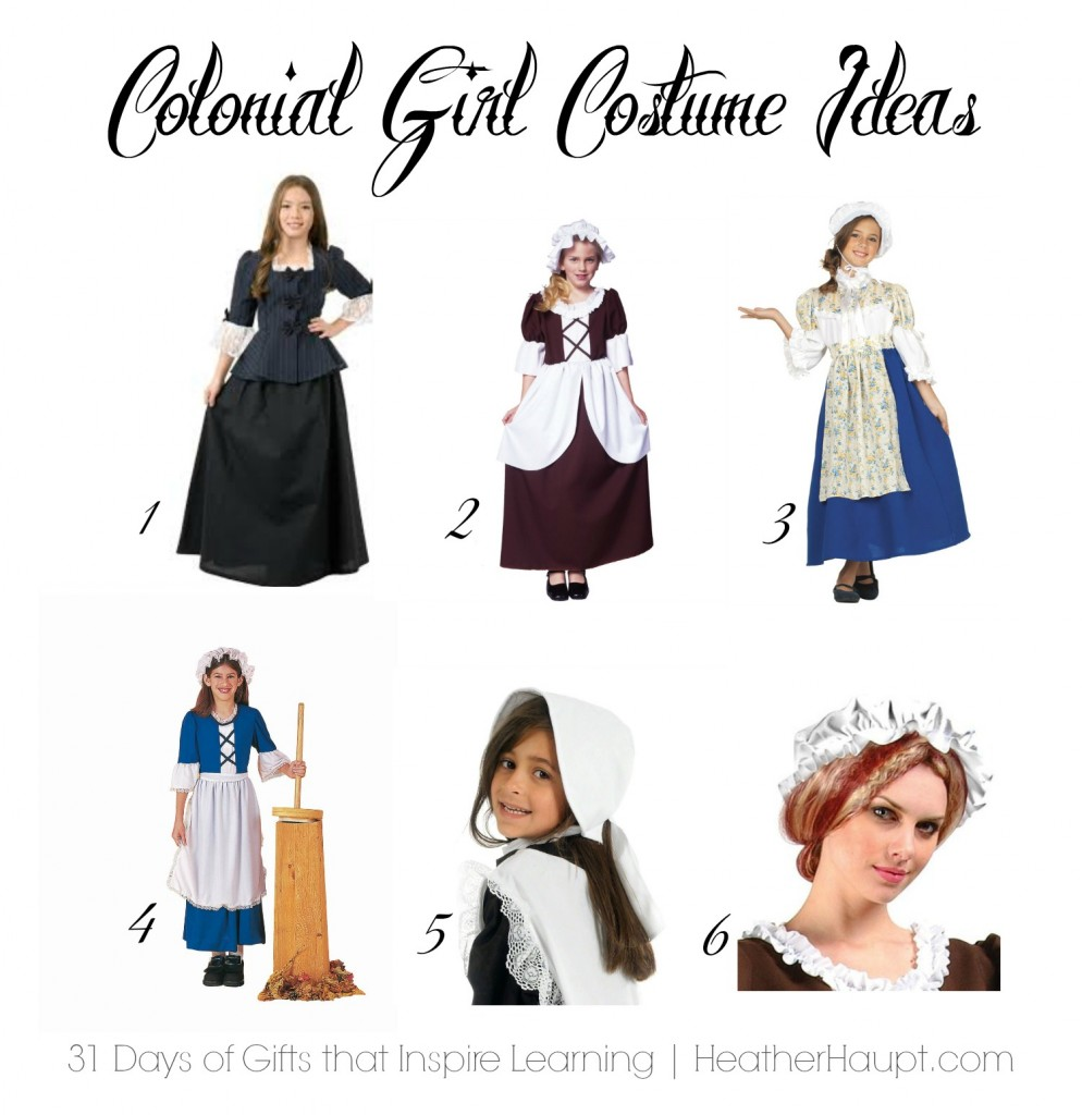 Colonial girl costumes to spark imaginative play and learning.  sc 1 st  Heather Haupt & Colonial and Revolutionary War Themed Gifts (Day 4) - Heather Haupt