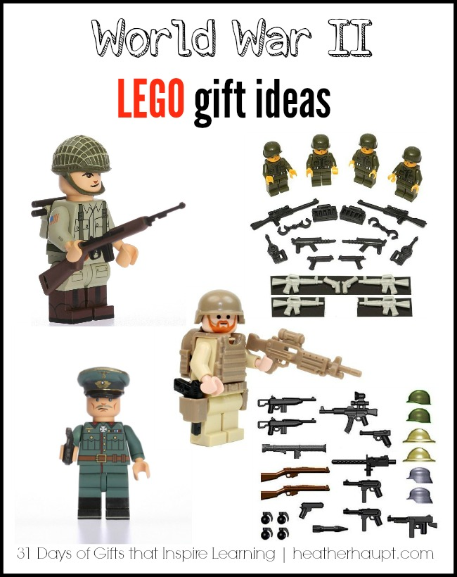 Inspire hours of World War II style lego creating with these fabulous minifig sets!