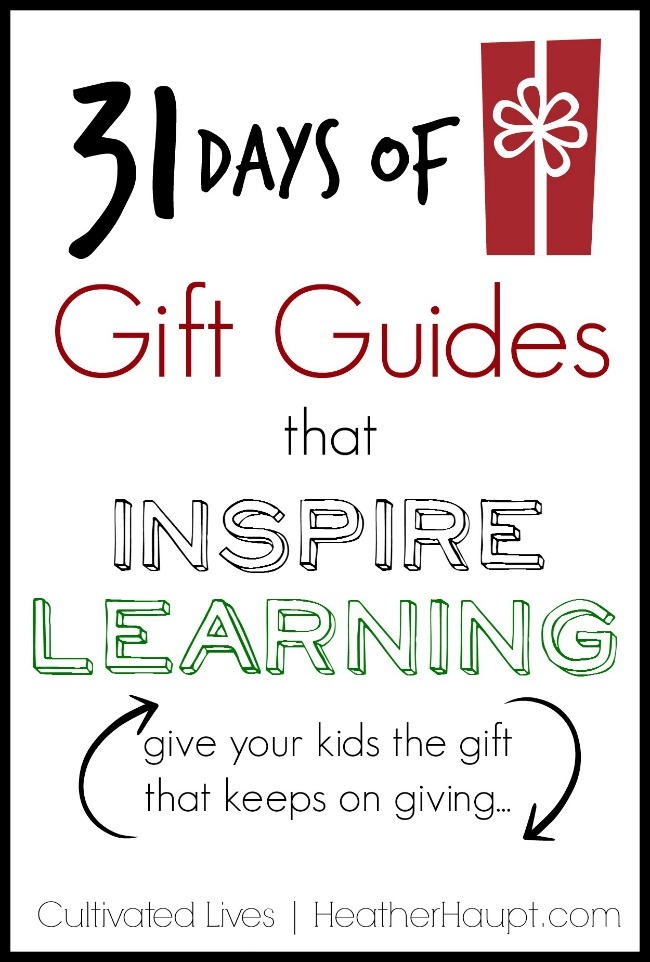 31 days of creative, themed gift guides to feed the imagination, foster creativity and grow their love of learning!