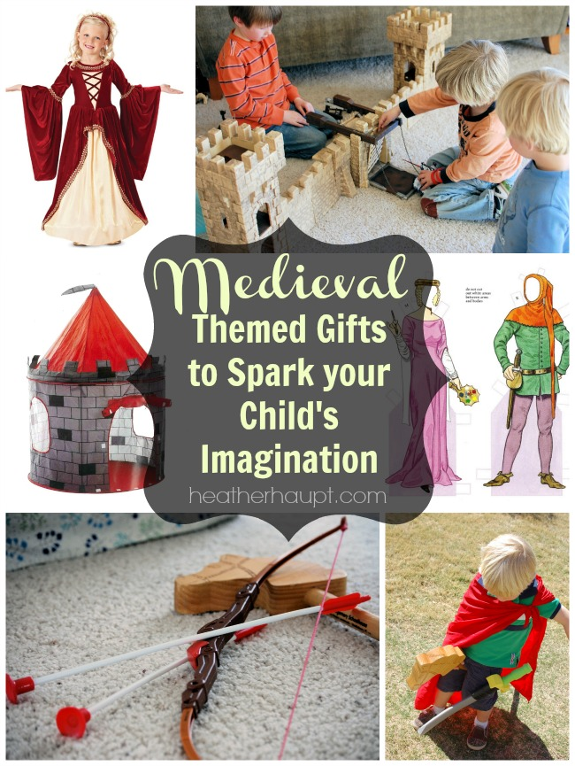 Inspiration for medieval themed gift ideas for kids! {31 Days of Gift Ideas that Inspire Learning}