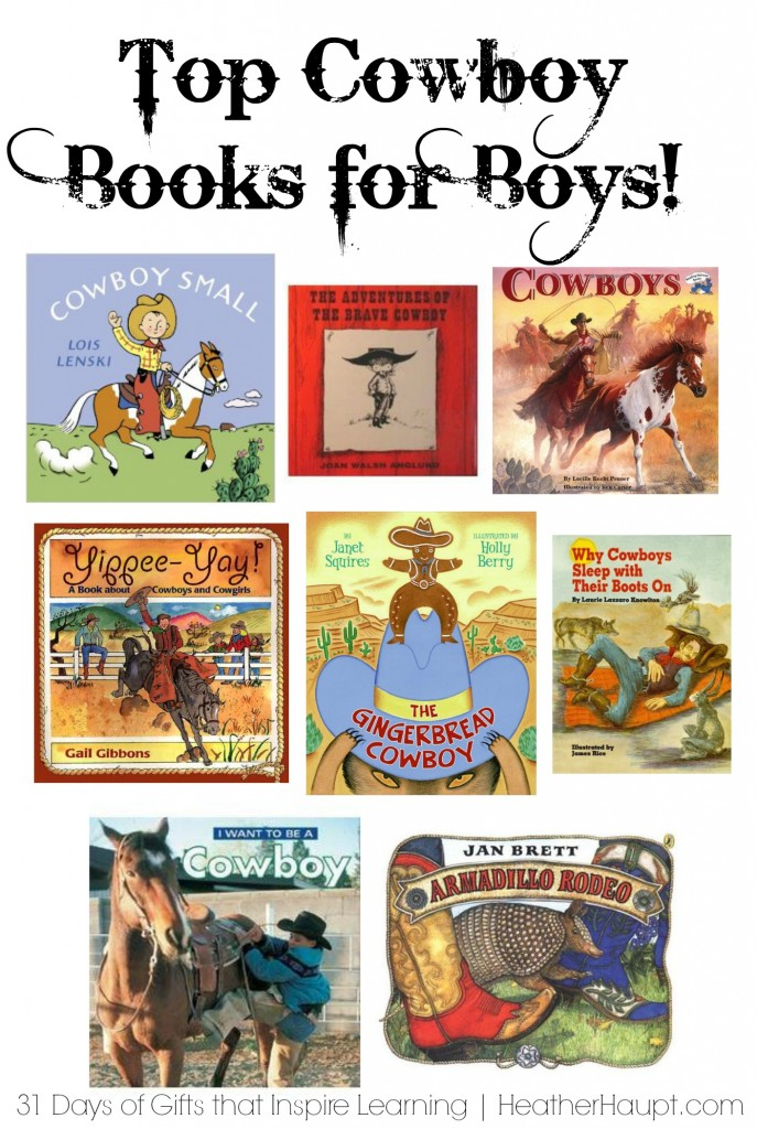 Favorite books on cowboys. Fanciful and engaging books that are high on adventure.