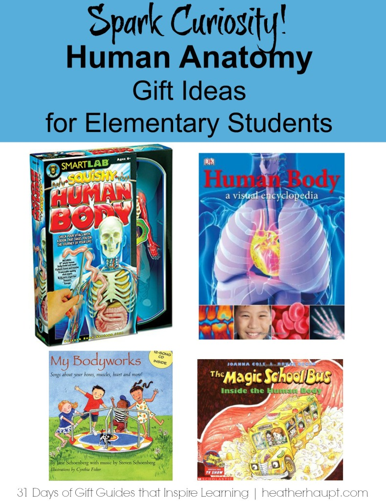 Gift Ideas for kids between 6-12 who are learning about HUMAN ANATOMY.  #sciencegifts #educationalgifts