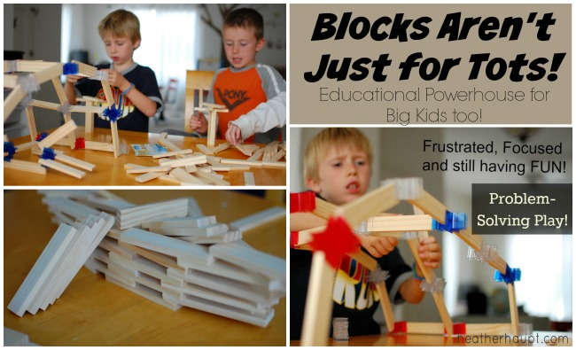Blocks make excellent gifts for kids! They can be an amazingly stimulating toy even for a big kid. {part of the 31 Days of Gift Ideas that Inspire Learning | HeatherHaupt.com}
