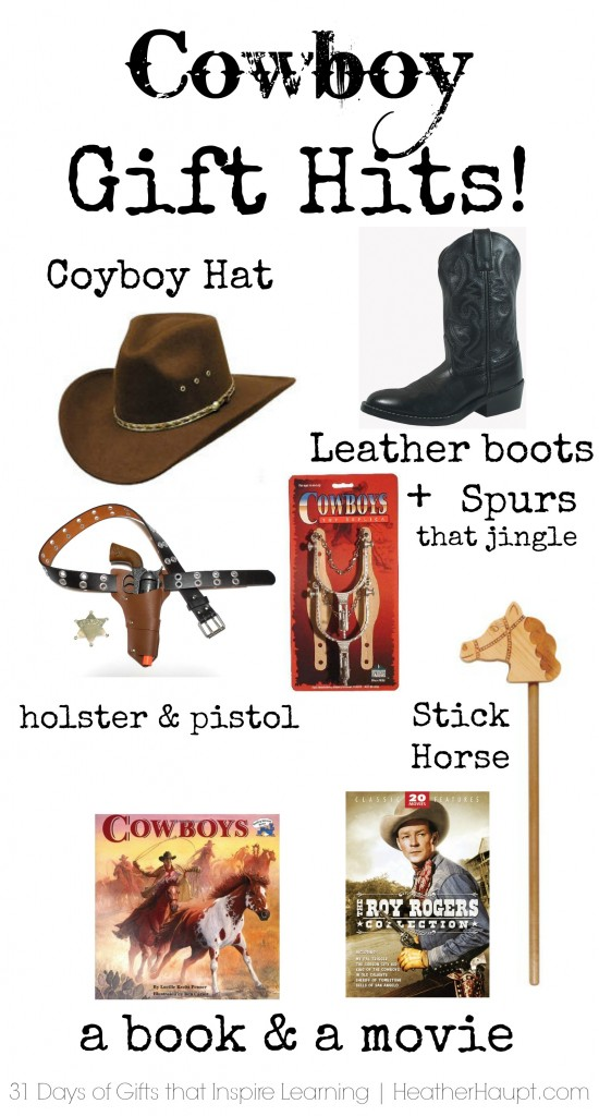 Great cowboy gift ideas. One mama's take on toys that can withstand hours of rough play!