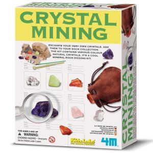 Excavate your own crystals and add them to your rock collection!