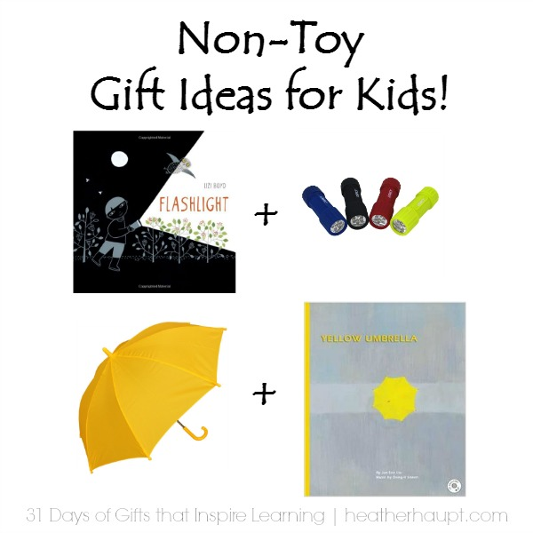 Pairing a book and a real-life item make for some fun Christmas Gifts!