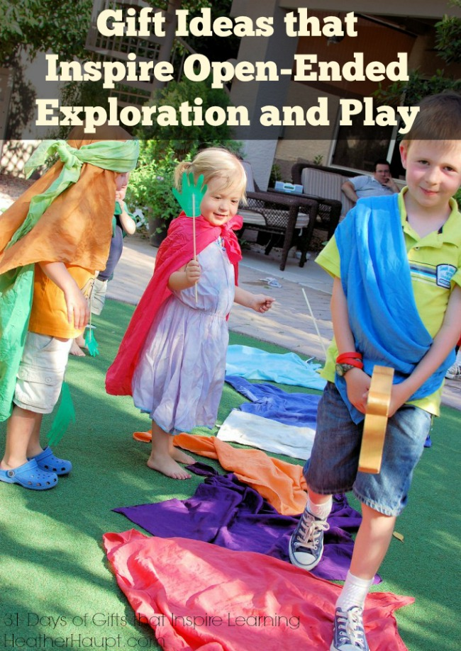 Gift ideas that inspire open-ended exploration and play and WHY open-ended play is so important.