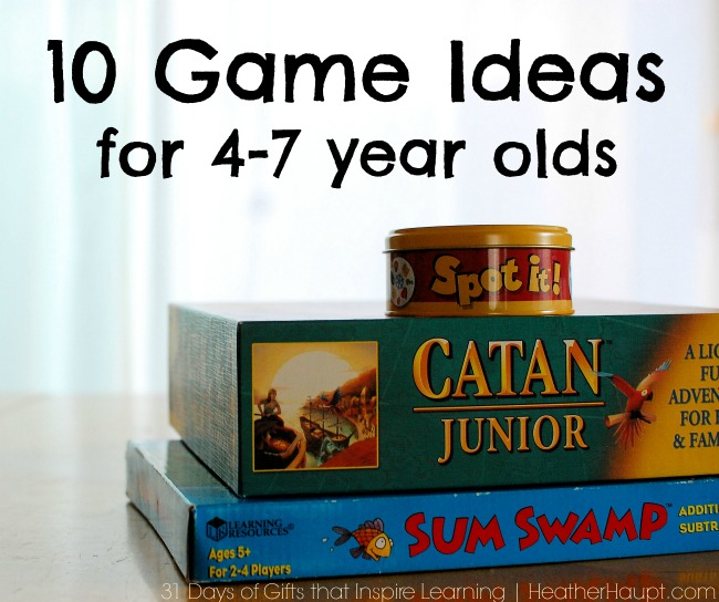 Christmas Gift Idea: 10 Fun Game Ideas for 4-7 year olds!