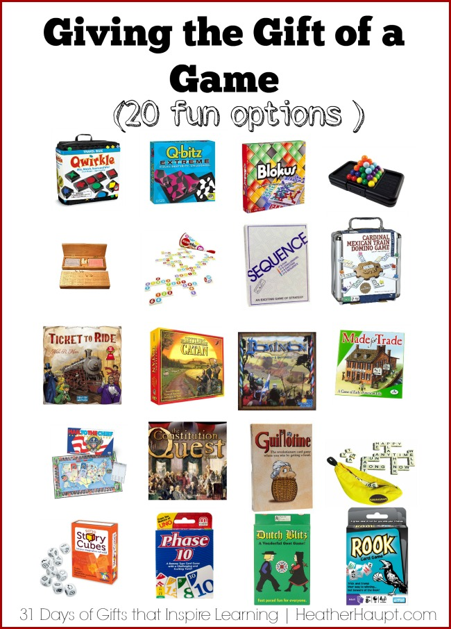 20 games that will challenge the whole family. {Educational, Engaging, FUN}