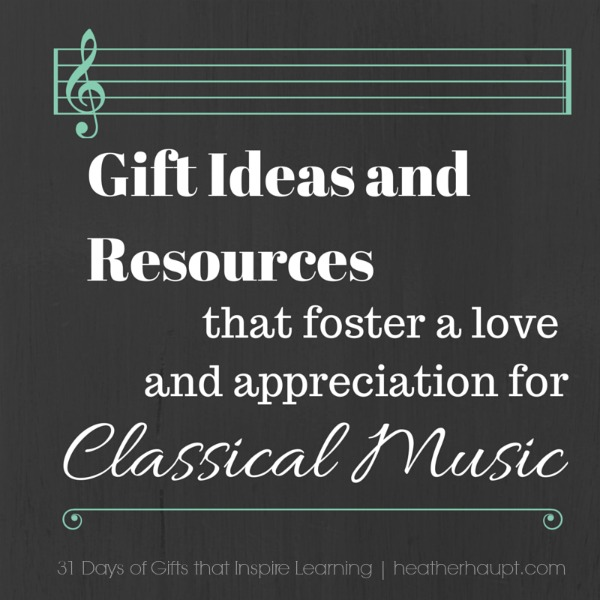 Resources to help foster a love, appreciation and understanding of classical music and it's history.  Perfect supplements to music appreciation studies or as unique gifts that enhance learning.