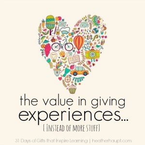 Destination themed gifts and the value in giving experiences instead of more stuff…