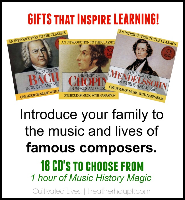 Wonderful audio cd's that portray the life and music of famous classical music composers!
