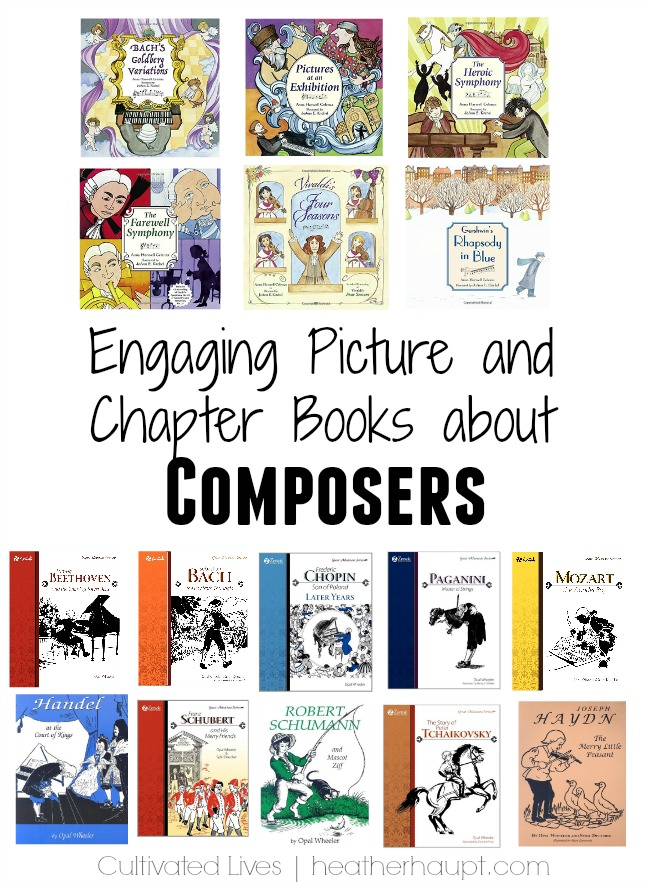 Engaging and informative books about the lives of famous composers. {from the 31 Days of Gifts that Inspire Learning series | www.heatherhaupt.com}
