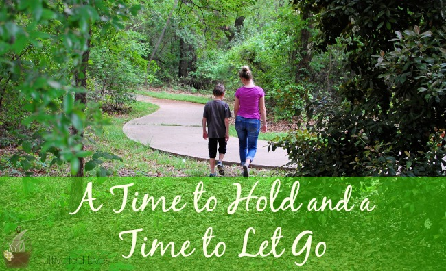 Intentional parenting sometimes means intentionally letting go... Lessons from the trenches.