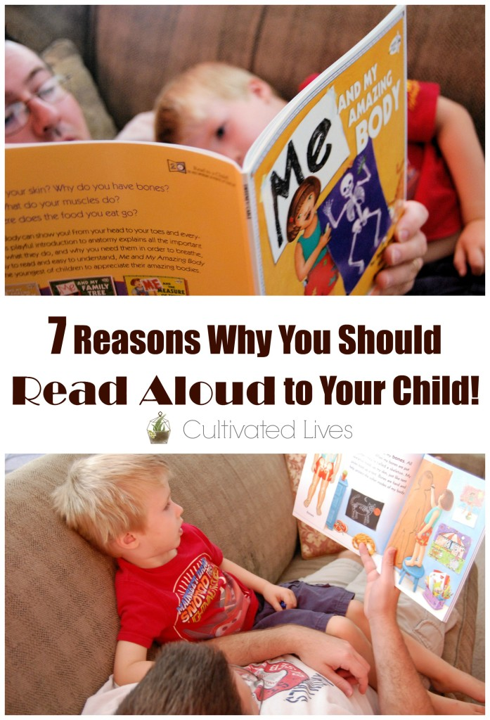 Important reminders of WHY it's so important to read aloud to our children!